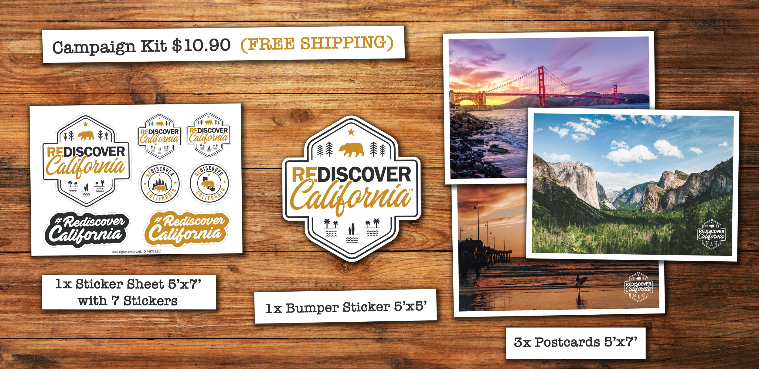 Rediscover California Support Kit
