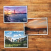 Rediscover California Bumper Postcards